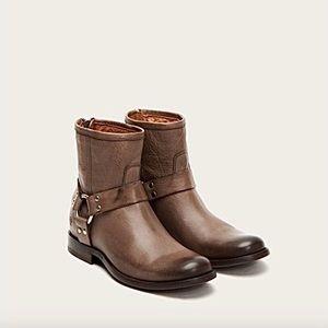 Frye | 'Phillip' Harness Short Boot Grey